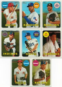 2018 Topps Heritage inserts from box 1
