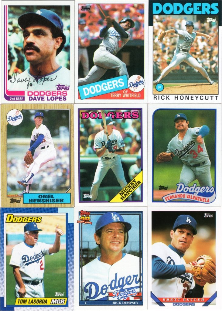 Assorted 1982-1993 Topps cards