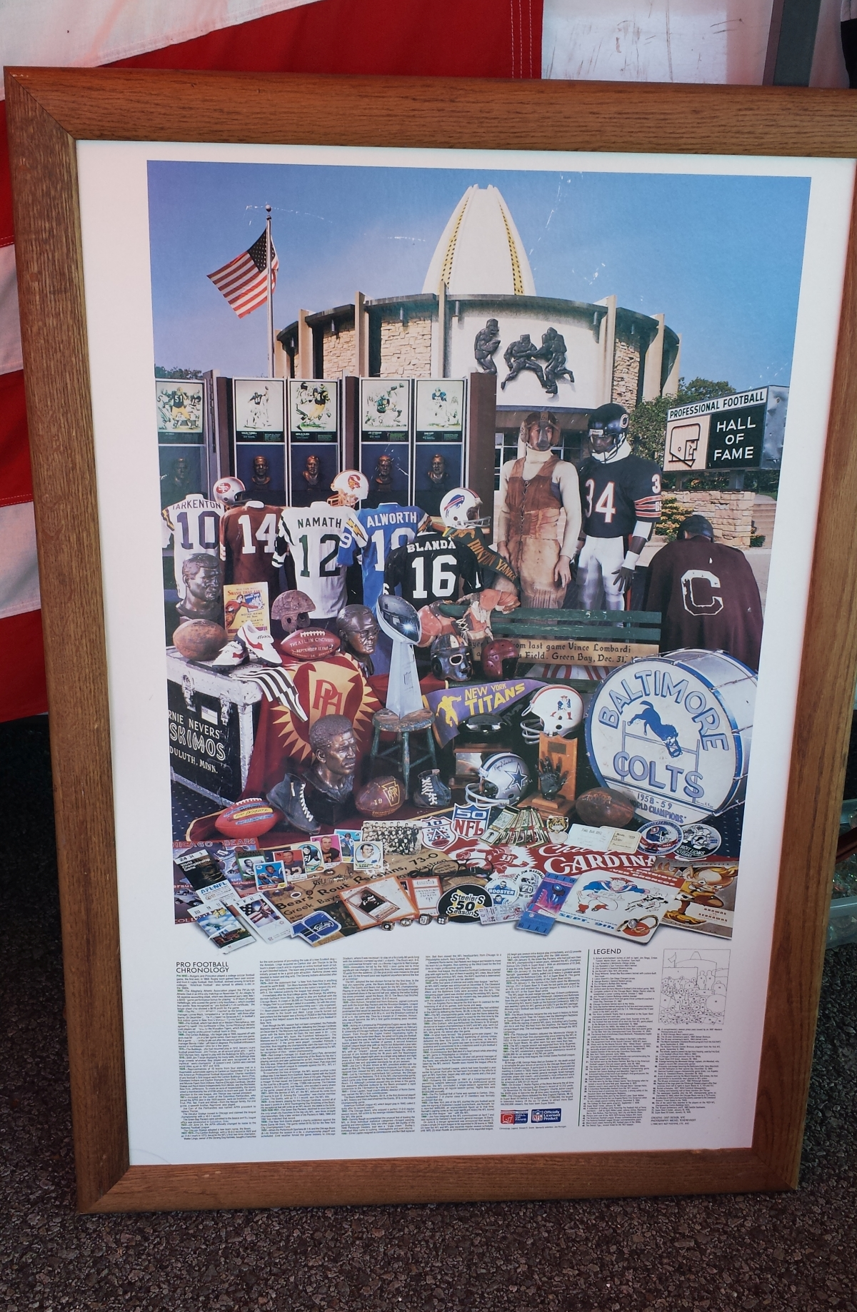 Poster of the NFL Hall of Fame