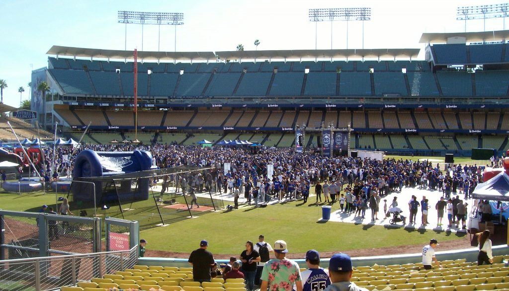 The outfield at 2019 Dodgers Fan Fest