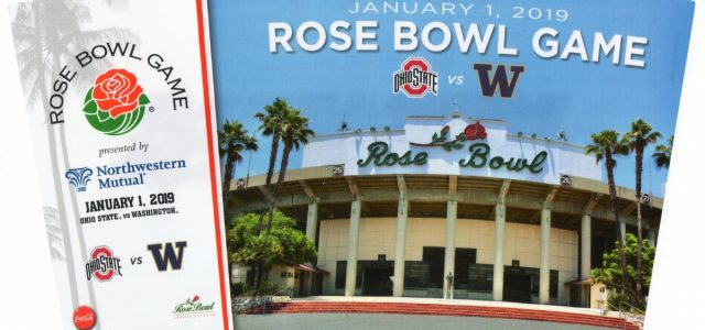 2019 Rose Bowl Souvenir Cup Design