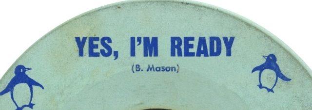 "Segment of 45 rpm ""Yes, I'm Ready"""